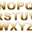 Shiny Gold Letters On White — Stock Photo #37985779
