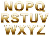 Shiny Gold Letters On White — Stock Photo