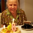 Grandmother's 86th birthday. — Stock Photo