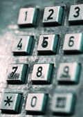 Buttons of an old-style public phone. — Stock Photo