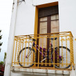 Stock Photo: Bike on balcony
