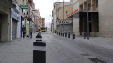 バルセロナのストリート ライフ — ストックビデオ