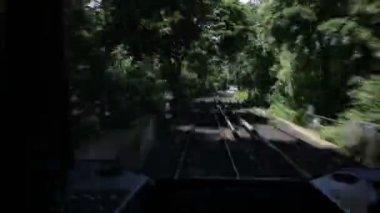 железнодорожный timelapse. — Стоковое видео