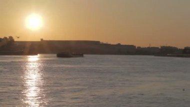Sunset at Saint-Petersburg — Stock Video