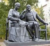 列宁和 krupskaya. — 图库照片