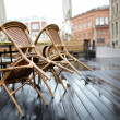 Stock Photo: Street cafe in Riga
