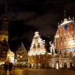 Old Riga at night. — Stock Photo