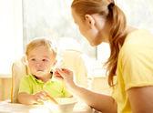 Kid's breakfast. — Stock Photo