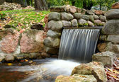 Cascade in the park. — Stock Photo