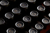Antique typewriter keys — Stockfoto