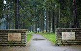 Cemetery of German soldiers in Toila, Estonia. — Stock Photo