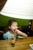 Kid in the restaurant — Stock Photo