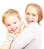 Happy mother with her sonny. — Stock Photo