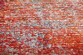 Red brick dirty background. — Stock Photo