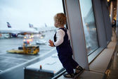 Kid in the airport. — Stock Photo