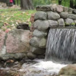 Cascade in the city park. — Stock Video