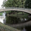 The bridge in the city park. - Stock Photo