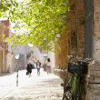 Street in Tallinn at spring. — Stock Photo