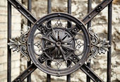 Vintage ornament on the lattice. — Stock Photo