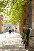 Street in Tallinn at spring. — Stock Photo
