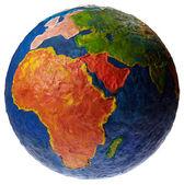 孤立在白色的橡皮泥全球. — 图库照片