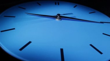 Blue clock. Time lapse — Stock Video
