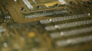 High technology background, computer circuit board — Stock video