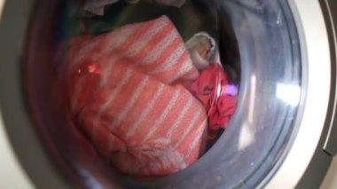 Máquina de lavar. lapso de tempo — Vídeo Stock