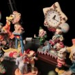Different shots of the clown statuettes in Akvamarine circus. - Stock Photo
