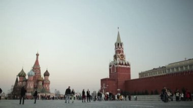 Walking in Red square in Moscow. — Stock Video