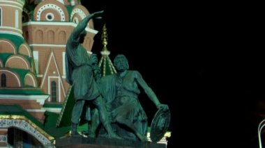 St. Basil (Cathedral of the Protection of the Virgin on the Ditch) Moscow — Stock Video