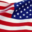 Stock Video: usa flag waving in the wind