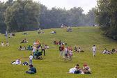 Have a rest at the Kolomenskoe park — Stock Photo