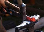 Blacksmith at work. — Stock Photo
