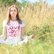 Stock Video: Women exercise healthy peaceful Yoglifestyle meditate