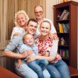 Big happy familу at home — Stock Photo