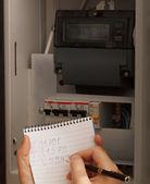 Reescrever as leituras do medidor elétrico — Foto Stock