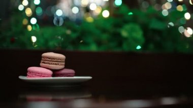 Taking a picture of macaroons. — Stock Video