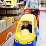 Child friendly supermarket shopping — Stock Photo #40519649