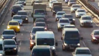 Timelapse of a city traffic — Stock Video