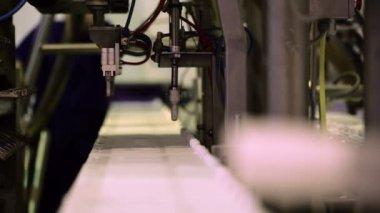 Conveyor at work — Stock Video