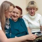 Grandmother, mom and daughter bonding — Stock Photo #48781989