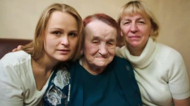 Three women of different age — Vídeo Stock