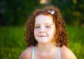 Redheaded beautiful girl — Stock Photo
