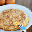 Potato omelette on a plate — Stock Photo