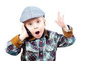 Boy in a cap — Stock Photo