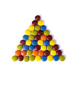 Triangle of colorfu — Stock Photo