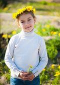Girl in a wreath — Stock Photo