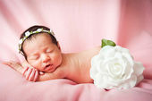 Little baby girl sleeping — Stock Photo
