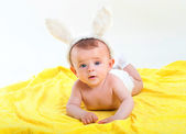 A boy in a cap with ears — Stock Photo